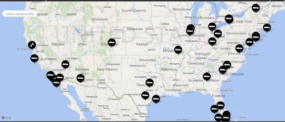 Aston Martin US Dealer Map (May 2014)